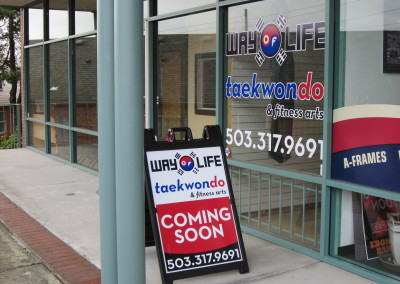 Custom Window Graphics and A-Frames Dunwoody