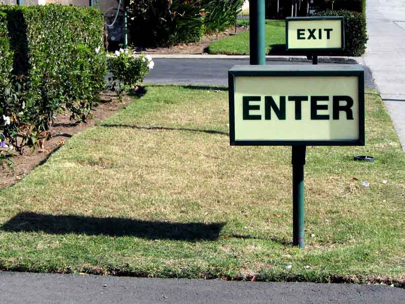 Enter & Exit Signs - Signs of Intelligence in Peachtree Corners, GA