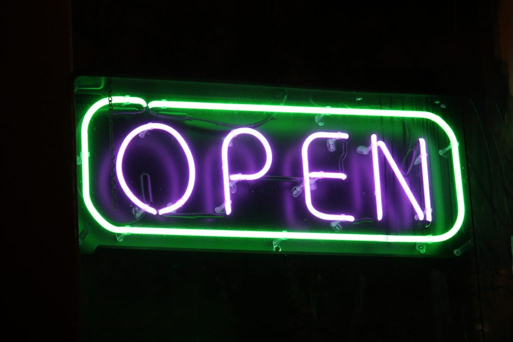 LED Illuminated Open for Business Signs - Signs of Intelligence in Peachtree Corners, Brookhaven, Chamblee, Alpharetta, Brookhaven, Chamblee, Duluth, Dunwoody, Johns Creek, Lilburn, Norcross, Sandy Springs, Suwanee