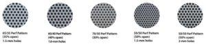65/35 Perf Pattern 60/40 Perf Pattern 70/30 Perf Pattern 50/50 Perf Pattern