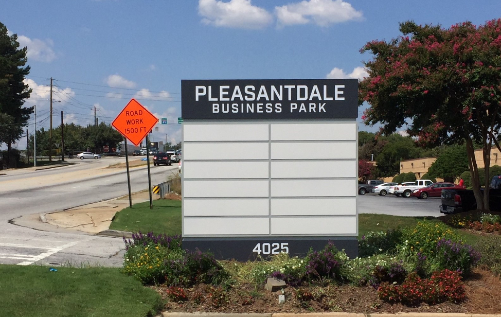 Business Park Monument Signs - Signs of Intelligence in Peachtree Corners, Brookhaven, Chamblee, Alpharetta, Brookhaven, Chamblee, Duluth, Dunwoody, Johns Creek, Lilburn, Norcross, Sandy Springs, Suwanee